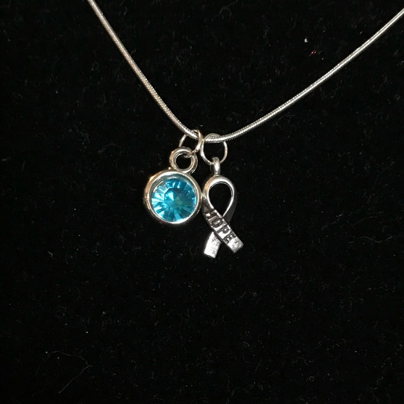 Jewelry Ovarian Cancer Awareness Ribbon Necklace Poshmark